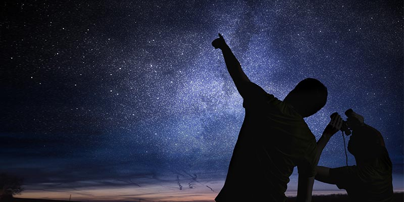 Sterne mit einem Fernglas erforschen